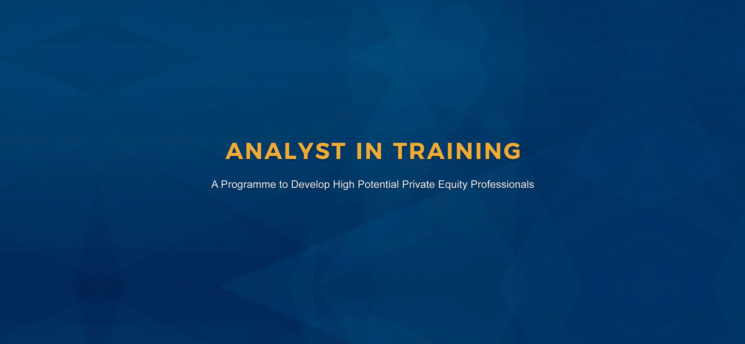 Analyst In Training (AIT) Programme